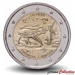 LITUANIE - PIECE de 2 Euro - Réserve de biosphère de Žuvintas - 2021 N#282044