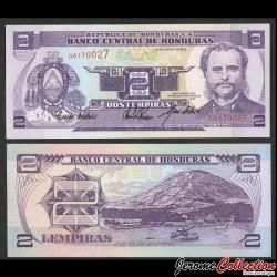 HONDURAS - Billet de 2 Lempiras - Port d'Amapala - 14.01.1993 P72a
