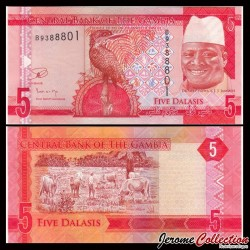 GAMBIE - Billet de 5 Dalasis - 2015