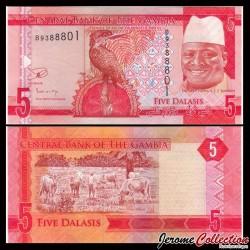 GAMBIE - Billet de 5 Dalasis - 2015 P31a