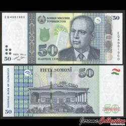 TADJIKISTAN - Billet de 50 Somoni - Bobojon Gafurov - 2021 P26d