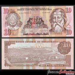 HONDURAS - Billet de 10 Lempiras - 17.04.2008 P82e