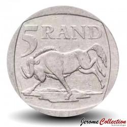 AFRIQUE DU SUD - PIECE de 5 Rand - Un gnou noir - 1994 Km#140
