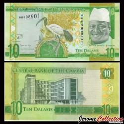 GAMBIE - Billet de 10 Dalasis - 2015