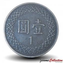 TAIWAN - PIECE de 1 Yuan - Chiang Kai-Shek - 1981