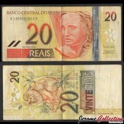 BRESIL - Billet de 20 Reais - Tamarin lion doré - 2002 P250a