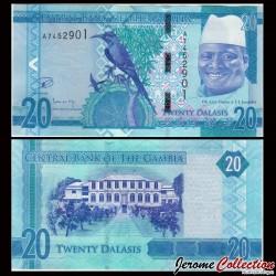 GAMBIE - Billet de 20 Dalasis - 2015