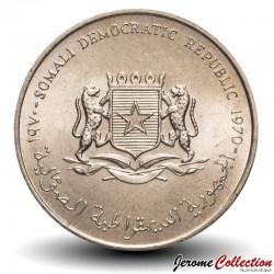 SOMALIE - PIECE de 5 shillings - Vache, chèvre, mouton - FAO - 1970