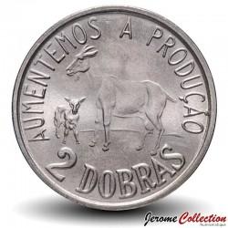 SAO TOMÉ-ET-PRINCIPE - PIECE de 2 Dobras - Chèvre et son chevreau - FAO - 1977 Km#27