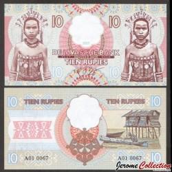 JAVA / DE JAVASCHE BANK - Billet de 10 Roupies - 2017 Java 100 - Gabris