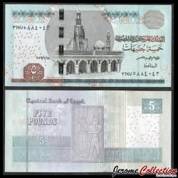 EGYPTE - Billet de 5 Pounds - Horus, Dieu du Nil - 28.9.2016 P72d