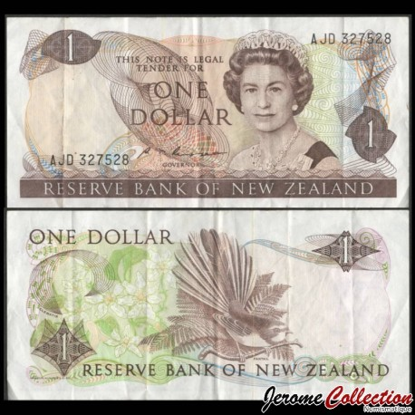 NOUVELLE-ZELANDE - Billet de 1 Dollar - Oiseau Rhipidura - 1985 P169b