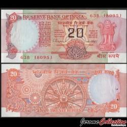 INDE - Billet de 20 Roupies - Roue hindoue du temps - Lettre C - 1999 P82j