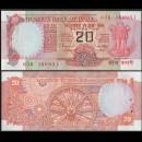 INDE - Billet de 20 Roupies - Roue hindoue du temps - Lettre C - 1999