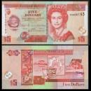 BELIZE - Billet de 5 Dollars - 2015