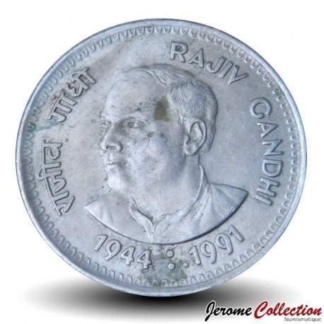 INDE - PIECE de 1 Roupie - Rajiv Gandhi - 1989 Km#89