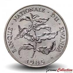 RWANDA - PIECE de 10 Francs - Branche de caféier - 1985 Km#14.2