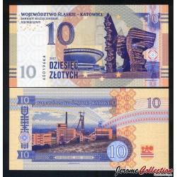 POLOGNE - Billet de 10 zlotych - Katowice - 2017