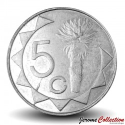 NAMIBIE - PIECE de 5 Cents - Aloès Mopane - 2007 Km#1