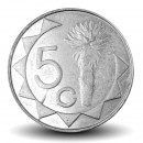 NAMIBIE - PIECE de 5 Cents  - Aloès Mopane - 2007