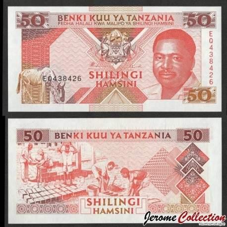 TANZANIE - Billet de 10 Shillings - Le président Ali Hassan Mwinyi - 1993 P23a