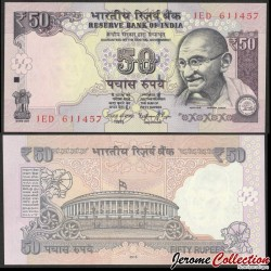 INDE - Billet de 50 Roupies - Mahatma Gandhi - Lettre R - 2015