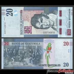 GUATEMALA - Billet de 20 Quetzales - 200e anniversaire de l'indépendance - 27.5.2020 P127a