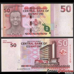 SWAZILAND (Eswatini) - Billet de 50 Emalangeni - 2018 / 2021 P44a