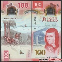 MEXIQUE - BILLET de 100 Pesos - Juana Inés de la Cruz - Polymer - 2020 P130Aa3