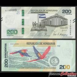 HONDURAS - Billet de 200 Lempiras - 200e anniversaire de l'indépendance - 2019 / 2021 P105a