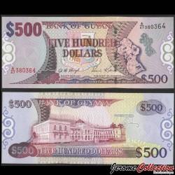 GUYANA - Billet de 500 DOLLARS - Maison du Parlement - 2002 P32b
