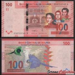 BOLIVIE - Billet de 100 Bolivianos - Perroquet bleu - 2018 P251a
