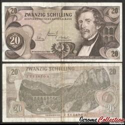 AUTRICHE - Billet de 20 Schillings - Carl Ritter von Ghega - 1967 P142a1