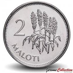 LESOTHO - PIECE de 2 Maloti - Tiges de maïs- 1998 Km#58