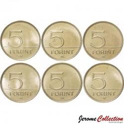 HONGRIE - SET / LOT de 6 PIECES de 5 Forint - 75e anniversaire de l'introduction du forint - 2021