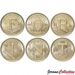 HONGRIE - SET / LOT de 6 PIECES de 5 Forint - 75e anniversaire de l'introduction du forint - 2021 Km#new