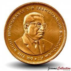 MAURICE - PIECE de 5 Cents - Sir Seewoosagur Ramgoolam - 2012 Km#52