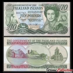 MALOUINES / FALKLAND - Billet de 5 Pounds - Cathédrale et monument aux os de baleine - 2005