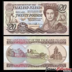 ILES MALOUINES / ILES FALKLAND - Billet de 10 Pounds - Cathédrale et monument aux os de baleine - 2011