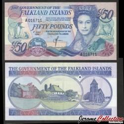 ILES MALOUINES / ILES FALKLAND - Billet de 20 Pounds - Cathédrale et monument aux os de baleine - 2011