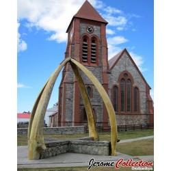 ILES MALOUINES / ILES FALKLAND - Billet de 50 Pounds - Cathédrale et monument aux os de baleine - 1990