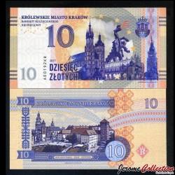 POLOGNE - Billet de 10 zlotych - Cracovie - 2017