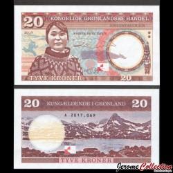 GROENLAND - Billet de 20 Kroner - 2017