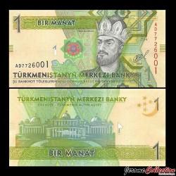 TURKMENISTAN - Billet de 1 Manat - 2014