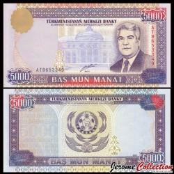 TURKMENISTAN - Billet de 5000 Manat - 2000