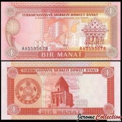 TURKMENISTAN - Billet de 1 Manat - 1993