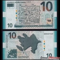AZERBAIDJAN - Billet de 10 Manat - 2005
