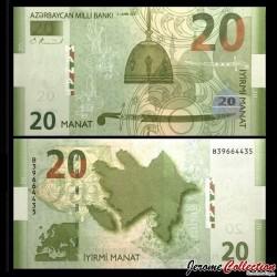 AZERBAIDJAN - Billet de 20 Manat - 2005