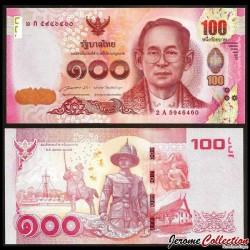 THAILANDE - Billet de 100 Baht - 2015