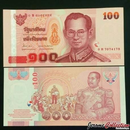 THAILANDE - Billet de 100 Baht - 2005 P114f